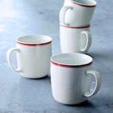 Williams-Sonoma Open Kitchen Bistro Mugs, Set of 4, Red