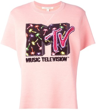 Marc Jacobs x MTV embellished short sleeve sweatshirt