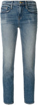 Frame cropped slim-fit jeans - women - Cotton/Spandex/Elastane - 25