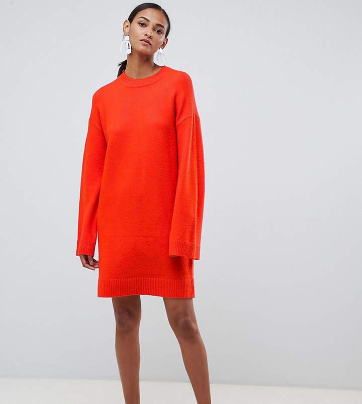 Asos Tall DESIGN Tall Knitted Mini Dress In Fluffy Yarn