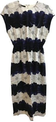 Mother of Pearl Navy Silk Dresses