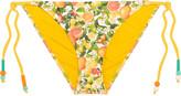Stella McCartney Beaded printed triangle bikini briefs