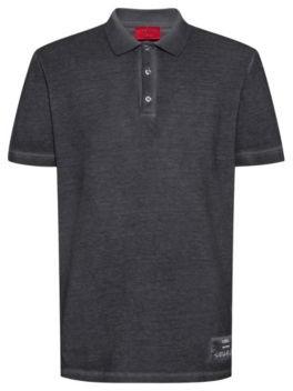 HUGO BOSS Garment-dyed polo shirt in Recot cotton pique