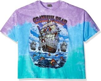 Liquid Blue Men's Plus Size Grateful Dead Ship of Fools Tie Dye Short Sleeve T-Shirt