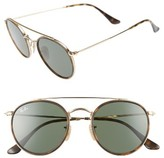 Ray-Ban Women's 51Mm Aviator Sunglasses - Gold/ Green
