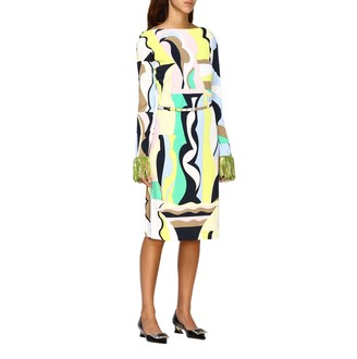 Emilio Pucci Dress Marilyn Dress With Vallauris And Fringes Print