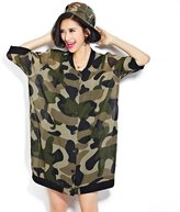 AXHSJP Women Camouflage Spring Tops Blouses,Casual Loose Cardigan Blouses T shirt Long Sleeve