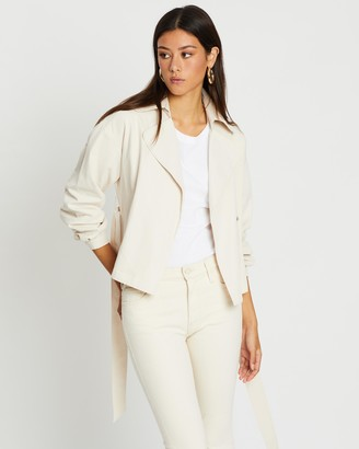 Missguided Cropped Belted Jacket