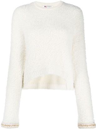 Ports 1961 Chain-Detail Boucle Sweater