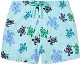 Vilebrequin Moorea Mid-Length Turtle-Print Swim Shorts