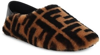 Fendi FF Shearling Slippers