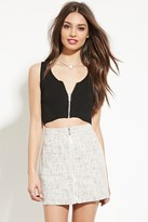 Forever 21 FOREVER 21+ Zip-Front Sweater Crop Top