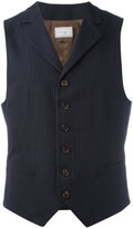 Brunello Cucinelli pinstripe waistcoat - men - Cotton/Cupro - 52