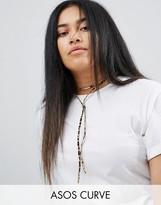 Asos Animal Print Bolo Choker Necklace