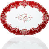 222 Fifth Winter Lace Oval Platter