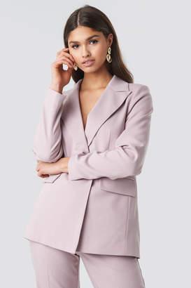 NA-KD Asymmetric Blazer Pink