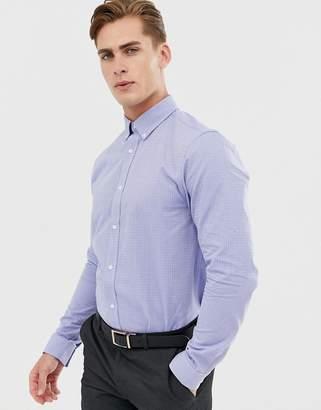 Ben Sherman Diamond Dot Jacquard Shirt-Blue