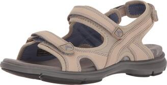 Aravon Women's Revsandal Three Strap Flat Sandal