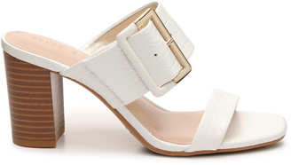 Kelly & Katie Women's Vinniee Sandals White Size 5 Faux Leather From Sole Society