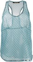 Roberto Cavalli sheer polka dot tank top - women - Silk/Polyester - 40