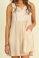 Umgee USA Embroidered Sleeveless Dress