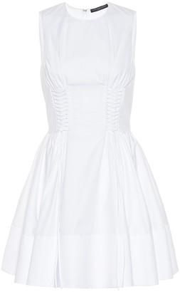 Alexander McQueen Lace-up cotton dress
