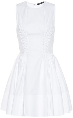 Alexander McQueen Lace-up cotton dress