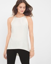 White House Black Market Sleeveless High-Low Blocked Shell
