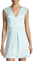French Connection Classic Capri Sleeveless Fit & Flare Dress, Fresh Aqua