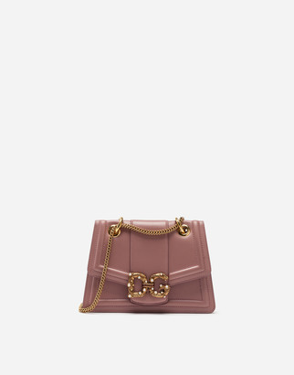 Dolce & Gabbana Small Amore Bag In Calfskin
