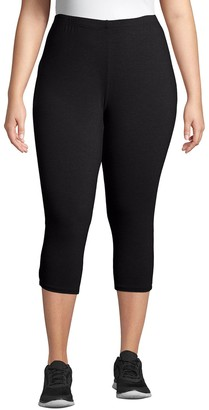 Just My Size Plus Size Stretchy Jersey Capri Leggings