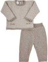 Paz Wool Sweater & Pants Set-BROWN