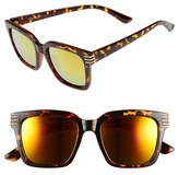 A. J. Morgan Women's A.j. Morgan 'Crux' 50Mm Sunglasses - Tortoise/ Mirror