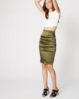 Nicole Miller Satin Sandy Skirt