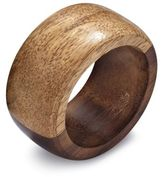 Sur La Table Two-Tone Wood Napkin Ring
