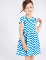 Marks and Spencer Pure Cotton Zigzag Dress (3 Months - 5 Years)