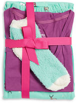 Hue Doe Re-Mi Pajama Top, Pants and Socks Set