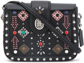 Coach embellished grab bag - women - Leather/Stone/metal - One Size
