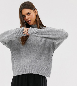 M Lounge Micha Lounge relaxed high neck jumper with seam detail