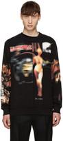 Givenchy Black Distressed Heavy Metal Sweatshirt