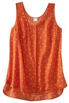 Merona Women's Polka Dot Sleeveless Top -Flame Red