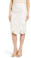 Women's Halogen Scalloped Lace Pencil Skirt