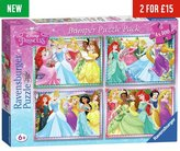 Ravensburger Disney Princess 100 Piece Puzzle - 4 Pack