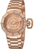 Roberto Cavalli Womens Rose Gold Watch With Rose Gold Dial.