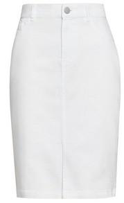 Dorothy Perkins Womens Dp Petite White Denim Midi Skirt, White