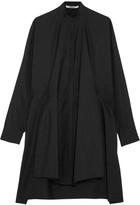 Chalayan Tie-back Cotton-poplin Shirt - Black