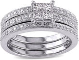 JCPenney MODERN BRIDE 3/8 CT. T.W Diamond 10K White Gold Multi-Top Bridal Ring Set