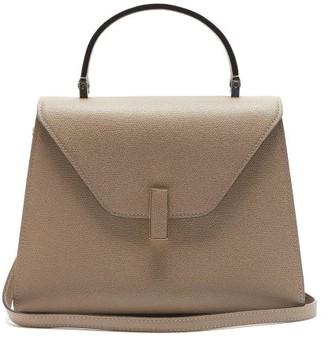 Valextra Iside Medium Grained-leather Bag - Beige