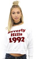 Wildfox Couture Bev Hills 1992 Sloan Sweatshirt in Clean White