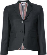 Thom Browne Single Breasted Sport Coat In Dark Grey Wool Twill
